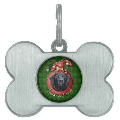 Christmas - Deck the Halls - Labradors - Gage Pet ID Tag