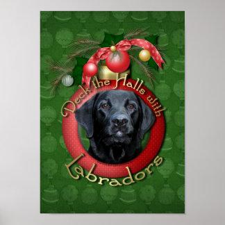 Christmas - Deck the Halls - Labradors - Gage Poster