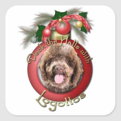 Christmas - Deck the Halls - Logotto Romagnolo Stickers