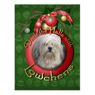 Christmas - Deck the Halls - Lowchens Postcard