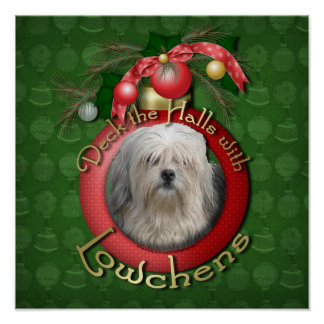 Christmas - Deck the Halls - Lowchens Poster