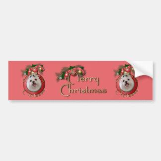 Christmas - Deck the Halls - Malteses Bumper Sticker