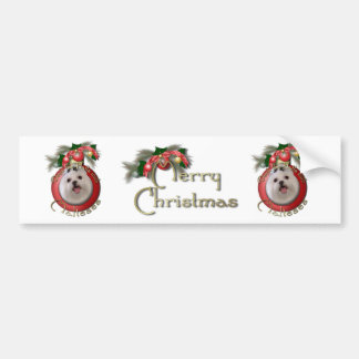 Christmas - Deck the Halls - Malteses Bumper Stickers