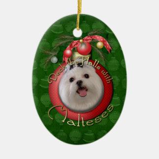 Christmas - Deck the Halls - Malteses Christmas Tree Ornaments