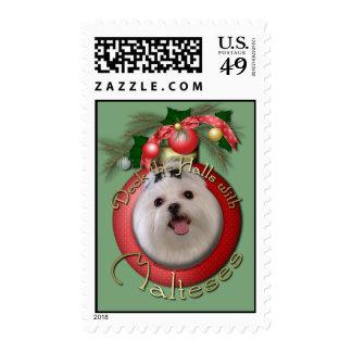 Christmas - Deck the Halls - Malteses Postage Stamp
