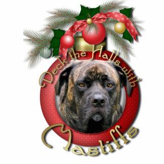 Christmas - Deck the Halls - Mastiffs - Cyclone Photo Sculpture Ornament