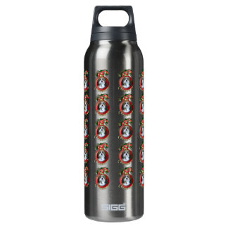 Christmas - Deck the Halls - Neezers 16 Oz Insulated SIGG Thermos Water Bottle