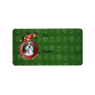 Christmas - Deck the Halls - Neezers Address Label