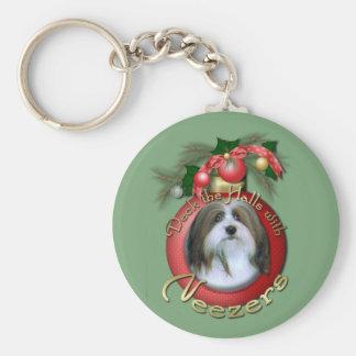 Christmas - Deck the Halls - Neezers Basic Round Button Keychain