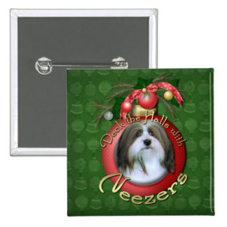 Christmas - Deck the Halls - Neezers Button