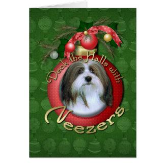 Christmas - Deck the Halls - Neezers Card