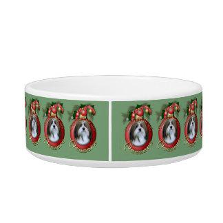 Christmas - Deck the Halls - Neezers Cat Food Bowl