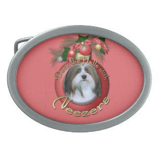 Christmas - Deck the Halls - Neezers Oval Belt Buckle