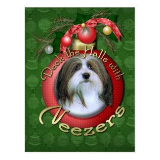 Christmas - Deck the Halls - Neezers Postcard