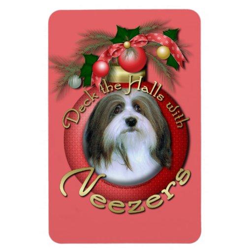 Christmas - Deck the Halls - Neezers Rectangle Magnet