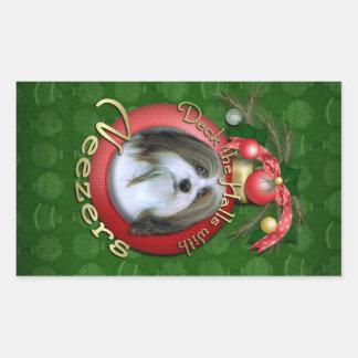 Christmas - Deck the Halls - Neezers Rectangular Sticker