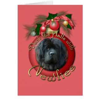 Christmas - Deck the Halls - Newfie Cards