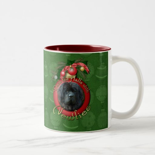 Christmas - Deck the Halls - Newfie Coffee Mugs