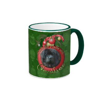 Christmas - Deck the Halls - Newfie Ringer Mug