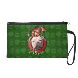 Christmas - Deck the Halls - Pitties - Jersey Girl Wristlet Clutch
