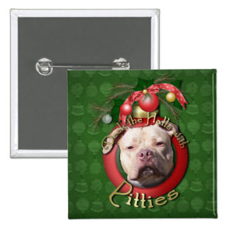 Christmas - Deck the Halls - Pitties - Jersey Girl Pins