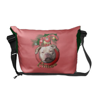Christmas - Deck the Halls - Pitties - Jersey Girl Commuter Bags