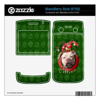 Christmas - Deck the Halls - Pitties - Jersey Girl BlackBerry Bold Decals