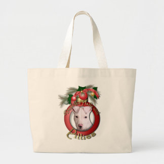 Christmas - Deck the Halls - Pitties - Petey Canvas Bags