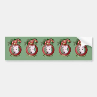 Christmas - Deck the Halls - Pitties - Petey Bumper Stickers