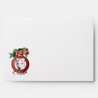 Christmas - Deck the Halls - Pitties - Petey Envelopes