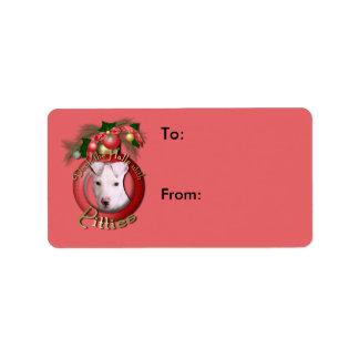 Christmas - Deck the Halls - Pitties - Petey Address Label