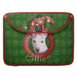 Christmas - Deck the Halls - Pitties - Petey Sleeves For MacBook Pro
