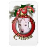 Christmas - Deck the Halls - Pitties - Petey Magnet