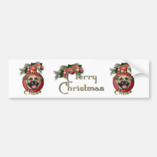 Christmas - Deck the Halls - Pitties - Tigger Bumper Sticker