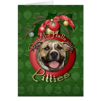 Christmas - Deck the Halls - Pitties - Tigger Card