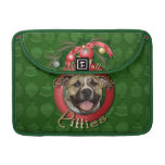 Christmas - Deck the Halls - Pitties - Tigger Sleeve For MacBook Pro