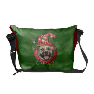 Christmas - Deck the Halls - Pitties - Tigger Commuter Bags