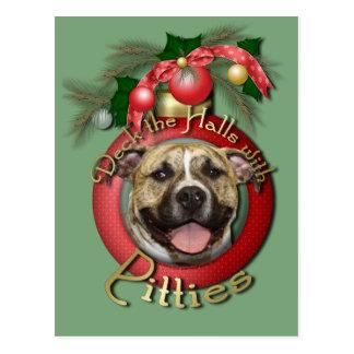 Christmas - Deck the Halls - Pitties - Tigger Postcard