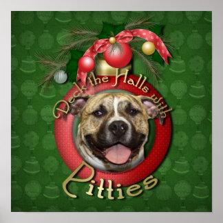 Christmas - Deck the Halls - Pitties - Tigger Posters
