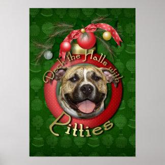 Christmas - Deck the Halls - Pitties - Tigger Print