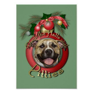 Christmas - Deck the Halls - Pitties - Tigger Poster