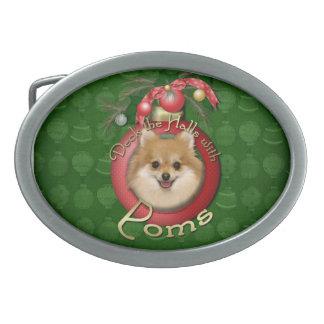 Christmas - Deck the Halls - Poms Belt Buckle