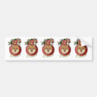 Christmas - Deck the Halls - Poms Bumper Stickers