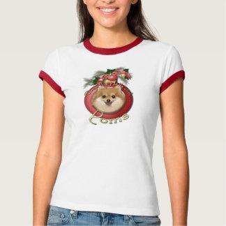 Christmas - Deck the Halls - Poms Tee Shirts