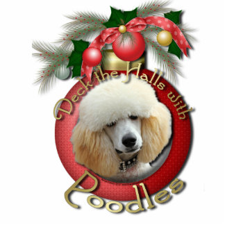 Christmas - Deck the Halls - Poodles - Apricot Photo Cutouts