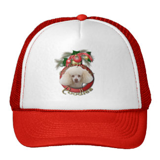 Christmas - Deck the Halls - Poodles - White Hats