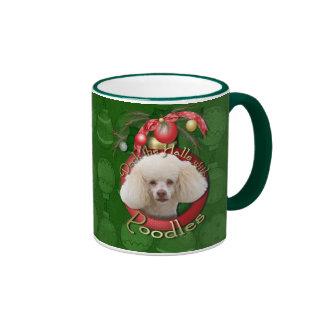 Christmas - Deck the Halls - Poodles - White Mug