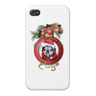 Christmas - Deck the Halls - Pugs - Angel iPhone 4/4S Covers