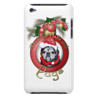Christmas - Deck the Halls - Pugs - Angel iPod Touch Cover