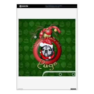 Christmas - Deck the Halls - Pugs - Angel Skins For PS3 Slim